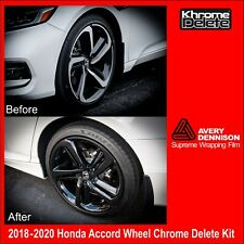 Chrome Delete Kit fitting the 2018 2020 Honda Accord Sedan Sport Wheel