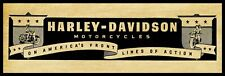 """1943 Harley Davidson Motorcycles New Metal Sign: 6"""" x 18"""" Long - Front Line AXN"""