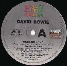 David Bowie ORIG OZ 45 Modern love '83 NM EMI AMI1101 Dance Rock
