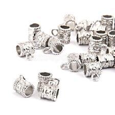 50 Antique Tibetan Silver Connectors Bails fit charm European Bead bracelet