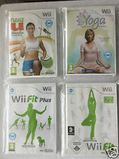 Nintendo Wii Game ( Balance Board Compatible ) FIT + FIT PLUS + U FITNESS + YOGA
