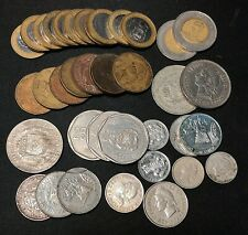Lot of (35) Dominican Republic Coins, mixed dates and denominations