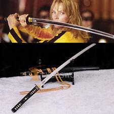 HIGH QUALITY JAPANESE SAMURAI KATANA KILL BILL SWORD FOLDED CLAY TEMPERED BLADE