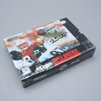 New Super Nintendo NFL Quarterback Club 96 Factory Sealed Box SNES Japan