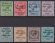 IRELAND, Scott #1- 8: 1/2 - 10d, Mint, 1922 Dollard Overprints(8) in Black
