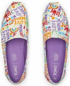 Toms Pride Alpargata Unity White Multi Womens Slip On Shoes