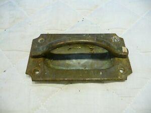 Antique Single Bronze Recess Trap Door Handle-Raised And Fixed Handle-Marine ?