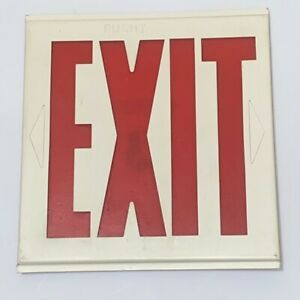 """Metal Exit Sign No Housing Insert Only Red White 7.5"""""""