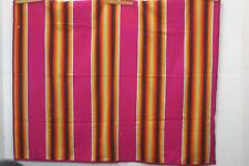Pendleton Serape Blanket Wool Pink Rainbow 62x68 Queen Full 1920-30s For Charity