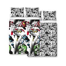 Marvel Comics Crop Double Duvet Cover Set Reversible Design