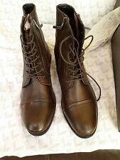 NEW KENNETH COLE YOU ARE THE MAN Lace-Up Leather Boot SIZE 11.5