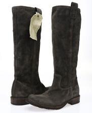 FLORENTINI BAKER Womens Dark Gray Leather Sz 36.5 Knee High Boots NEW! 229052