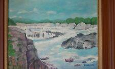Eva B Ward original oil painting signed . The Great Falls of the Potomac