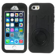 Apple iPhone 5 5s 5c Outdoor Case Army Armored Ständer Holder Ring hülle schwarz