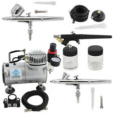 110V Air Compressor w/ 3 Airbrush Guns for Cake Decorating Model Hobby Painting