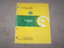 John Deere Used 375 Skid Steer Loader Ser # 010001 & Up Operators Manual B10