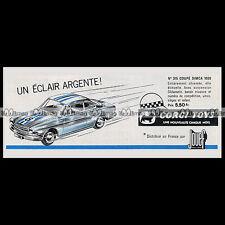 CORGI TOYS 1966 SIMCA 1000 Coupé Competition (315) - Pub / Publicité / Ad #E67