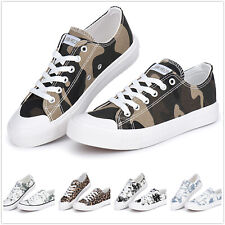 Fashion Women Shoes Low Top Canvas Suede Sneakers Unisex All Sizes