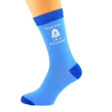 Dos Tonos Azul Calcetines Unisex créeme Soy Un Policía UK Size 5-12 X6N634