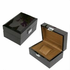 Top Classic Black High Light Wooden Watch Storage Box Fashion Jewelry Gift Cases