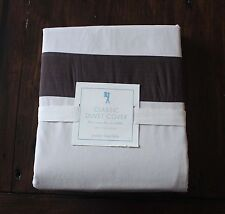 New POTTERY BARN KIDS Classic Duvet Cover Twin Khaki Brown