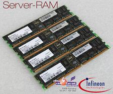 2x 1GB 2GB RAM ECC REG hys72d128320gbr-7-b RAM memoria FSC PRIMERGY rxi300 -s55