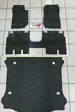 2014-2018 Jeep Wrangler JK Unlimited Rubber Slush Floor Mat Cargo Tray Set Mopar