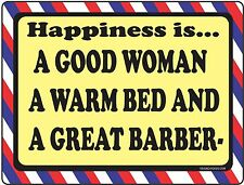 Barber Shop Sign - Happiness Is - Barber Supplies, Barber Chair, Salon Supplies
