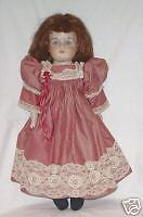"Very pretty 19"" Germany bisque A.M. 370, lavender eyes - great outfit"