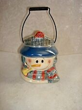 Snowman Candle Holder Smoking Pipe Crazy Mountain