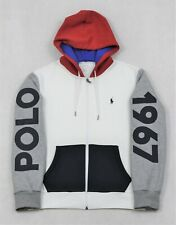 Polo Ralph Lauren Color Block Double Knit Tech Full Zip Hoodie Large L NWT $148