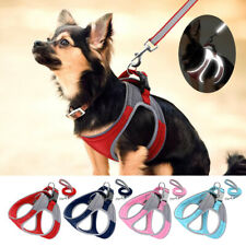 Step In Dog Harness and Leash Set Reflective Padded Vest Adjustable Yorkie S/M/L