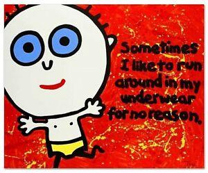"Todd Goldman-Sometimes I Like to Run-Ltd Ed Lithograph-33""x27""-Signed/COA #144"