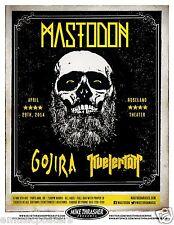 MASTODON / GOJIRA / KVELERTAK 2014 PORTLAND CONCERT TOUR POSTER - Metal Music