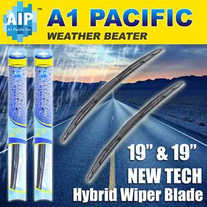 "Hybrid Windshield Wiper Blades Bracketless J-HOOK OEM QUALITY 19"" & 19"""