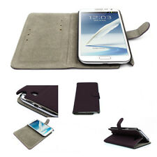 NEW WALLET CASE COVER STAND MAGNETIC PU LEATHER PURPLE SAMSUNG GALAXY NOTE II 2