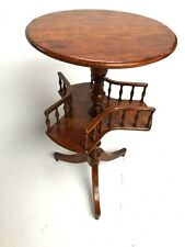 Antique Mahogany Occasional Table and Book Trough [5432]