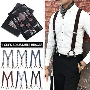 35mm Mens Adjustable Heavy Duty Trouser Belt Suspender Elastic Synthetic Leather