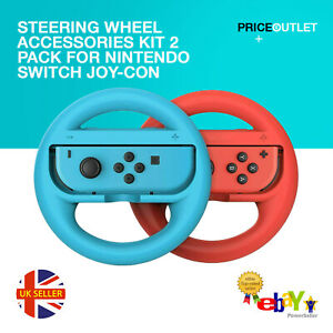 Steering Wheel Accessories Kit 2 Pack For Nintendo Switch Joy-Con UK STOCK