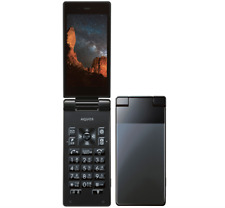 SOFTBANK NEW SHARP 501SH AQUOS BLACK ANDROID FLIP PHONE UNLOCKED