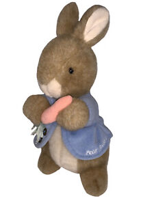 Eden Toys Peter Rabbit Beatrix Potter Plush Doll Toy w Carrot Vintage Tag