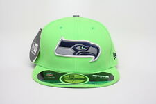 Seattle Seahawks New Era 59fifty NFL Thanksgiving Day 2014 Lime Sz 7 3/8