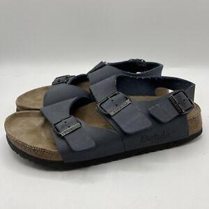 Birkenstock Betula 245 Sandals Size  L7 M5 Blue Two Strap Leather Beach Walking