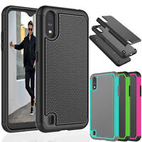 For Samsung Galaxy A01 Case Shock Absorbing Rubber Silicone Plastic Bumper Cover
