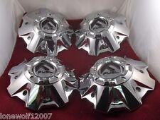 Fuel Wheels Chrome Custom Wheel Center Caps # 1001-63 Fits 5 & 6 Lug SET OF FOUR
