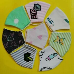 Face Mask Multi Layer Protection Reusable Washable Breathable Adult Children