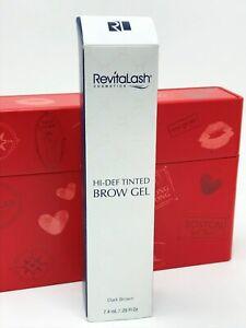 REVITALASH Hi-Def Tinted Brow Gel 7.4ml - Dark Brown NEW BOXED