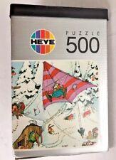 LOUP - HAPPY SKIING -  JIGSAW PUZZLE 500 pcs - YEAR 1974 - HEYE NR. 8316