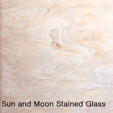 Spectrum Glass Sheet S891-61 - White & Pink Champagne Stained Glass Sheet (8X10)