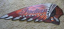VINTAGE STYLE GENUINE INDIAN MOTORCYCLE EMBOSSED METAL SIGN 1901 HARLEY DAVIDSON